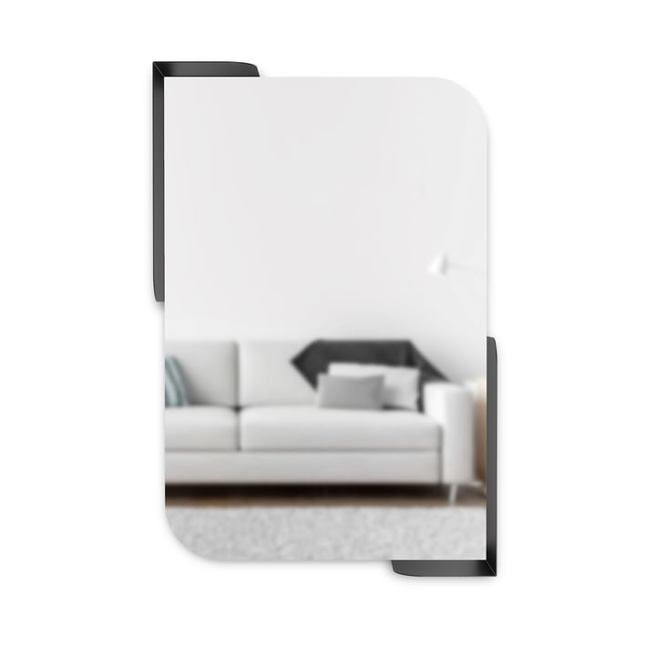 The Alcove wall mirror with shelf from Umbra , 51 x 76 cm, black