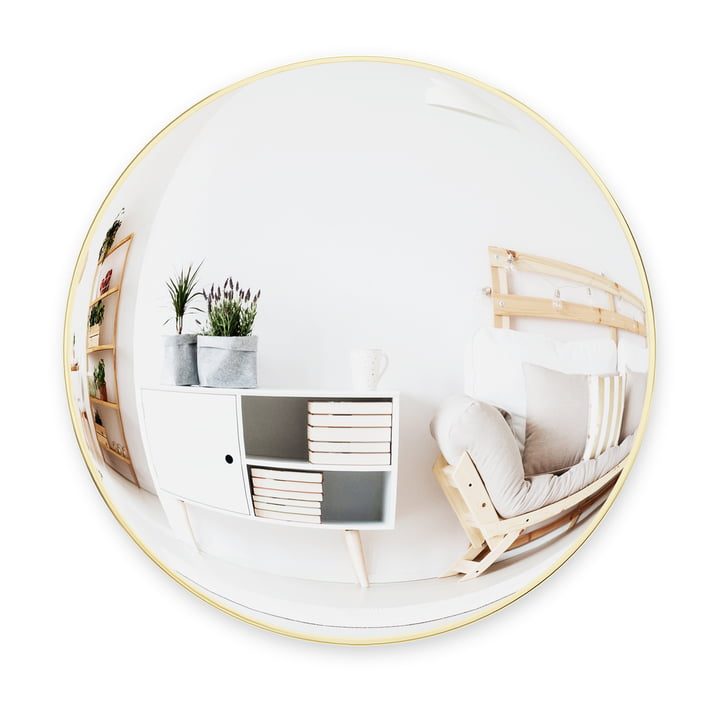 The Convexa wall mirror from Umbra , Ø 59 cm, brass