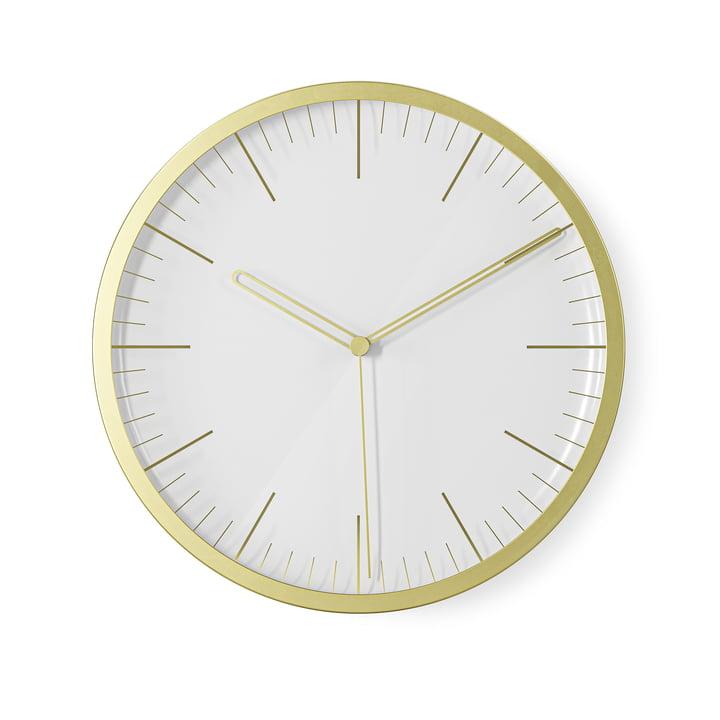 The Infinity wall clock / table clock from Umbra , Ø 21,5 cm, brass, matt