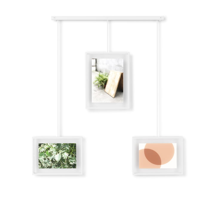 The Exhibit picture frame from Umbra in a set of 3 in white