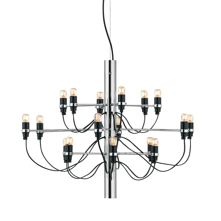 The chandelier 2097/18 from Flos in chrome (clear)
