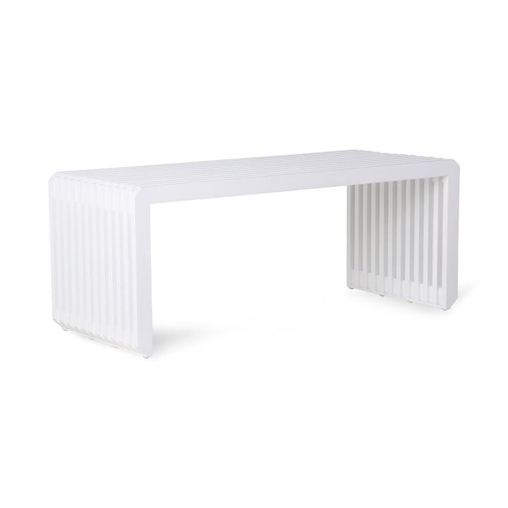 Slatted Bench, length 96 cm, white from HKliving