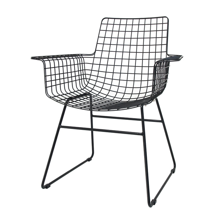 Wire Arm Chair , black from HKliving