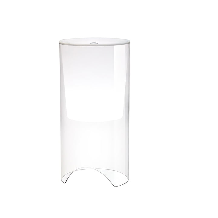 Aoy table lamp, Ø 20 x H 60 cm, opal white by Flos