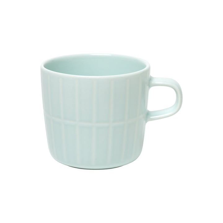 The Tiiliskivi cup with handle from Marimekko in mint, 200 ml