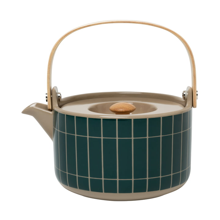 The Tiiliskivi teapot from Marimekko in terra / dark green
