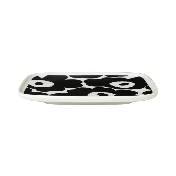 The Oiva Unikko serving platter from Marimekko in white / black