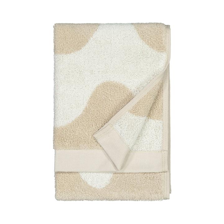 The Lokki guest towel from Marimekko in beige / white