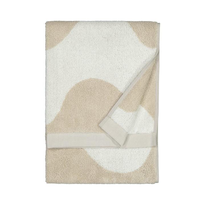 The Lokki towel from Marimekko in beige / white