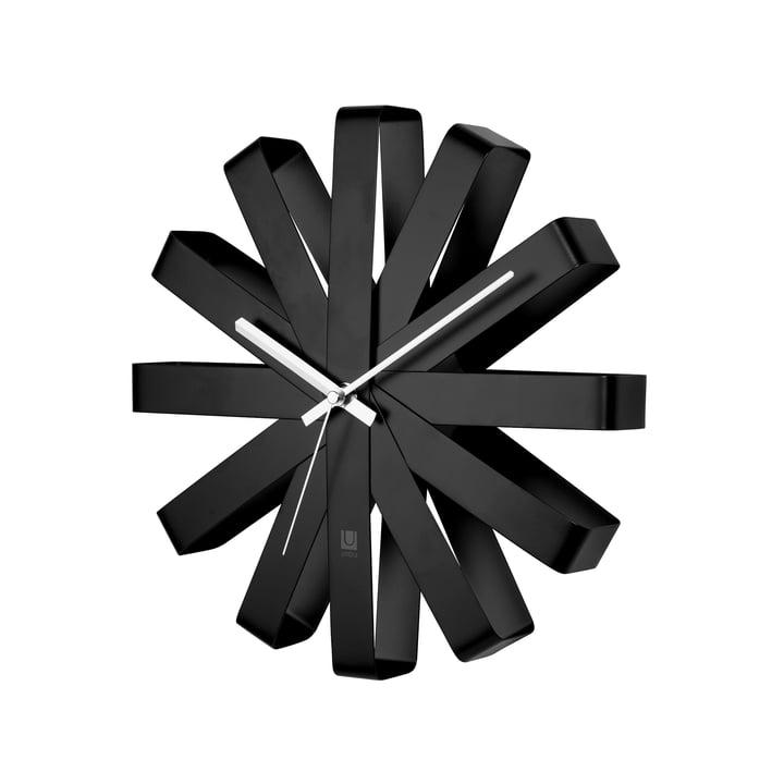 Ribbon Wall clock, black from Umbra