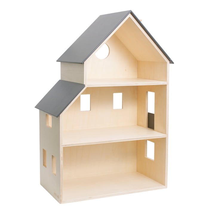 The wooden dollhouse from Sebra