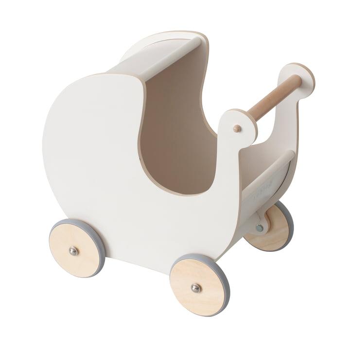 The doll pram from Sebra in classic white