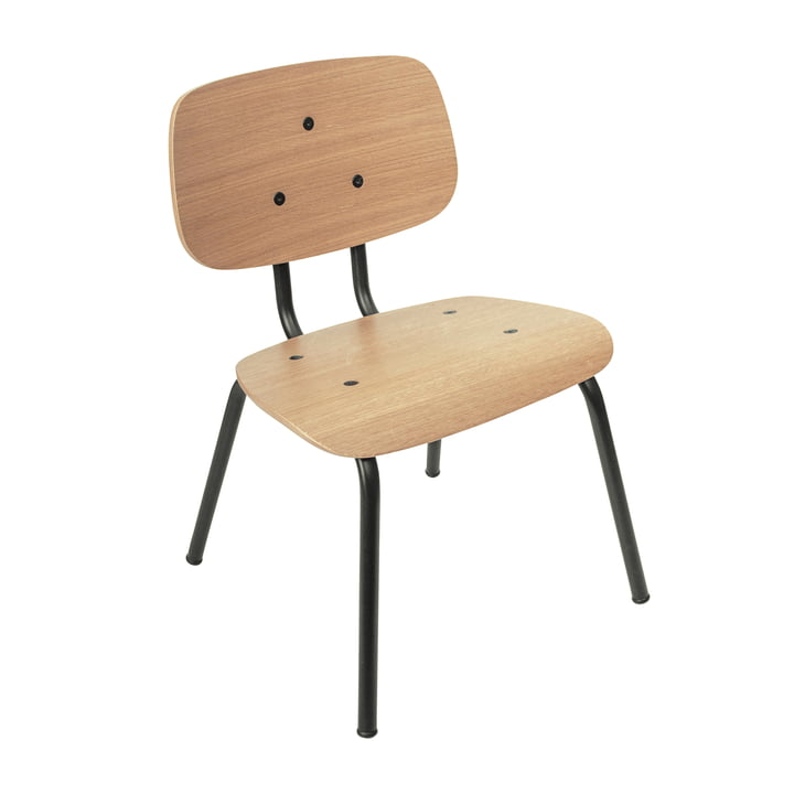 The Oakee children's chair from Sebra in natural oak / black