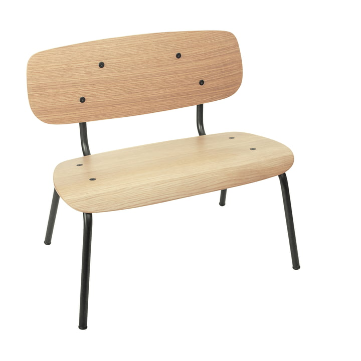 The Oakee children's bench from Sebra in natural oak / black