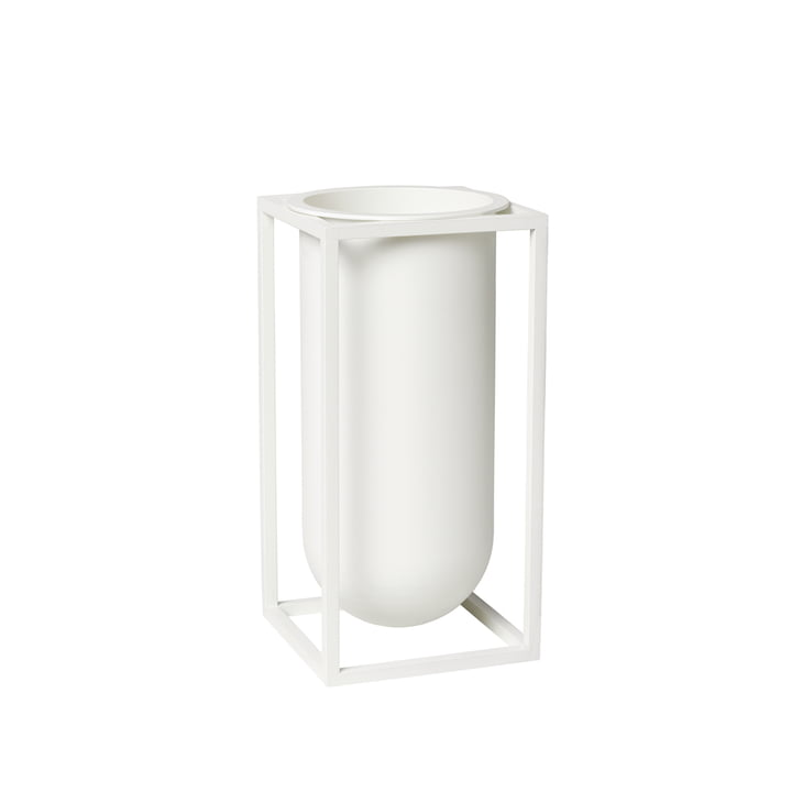 Kubus Vase Lily, white from by Lassen