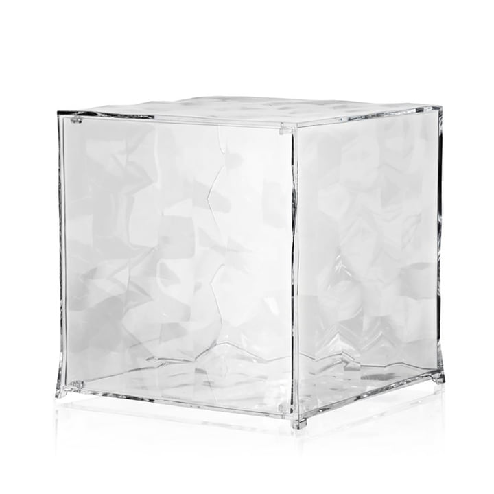 Optic Shelf module with door from Kartell in crystal clear
