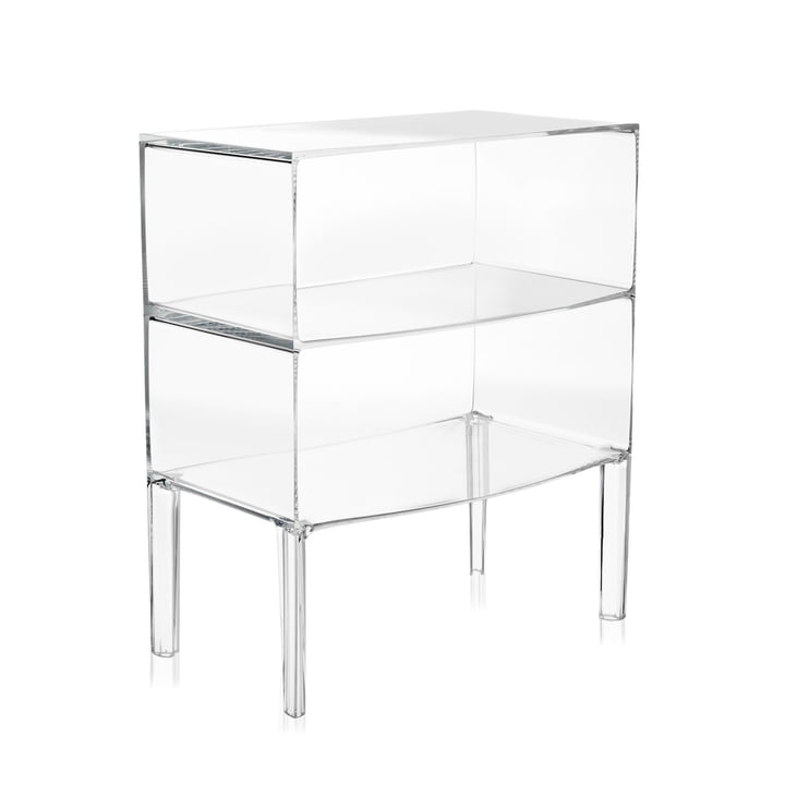 Ghost Buster Chest of drawers large from Kartell in crystal clear
