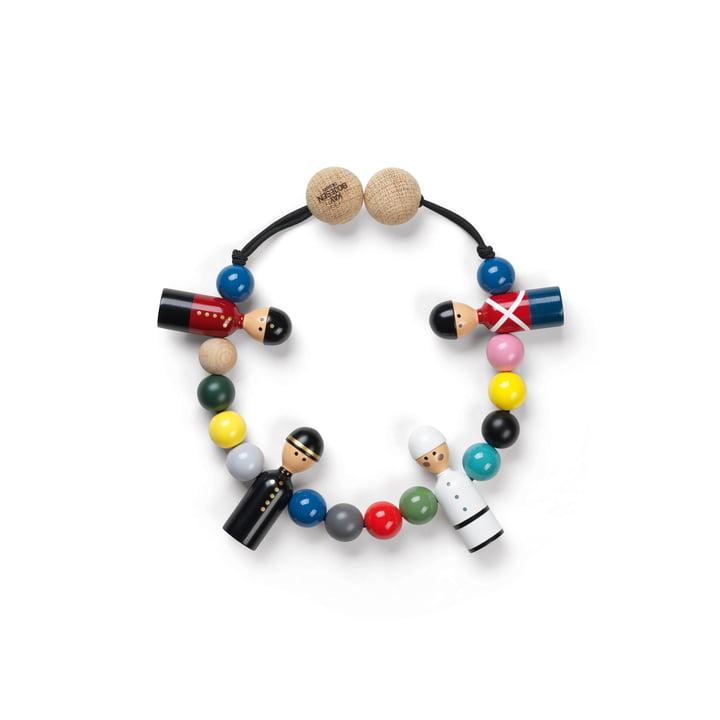 Pram chain, beech multicoloured by Kay Bojesen