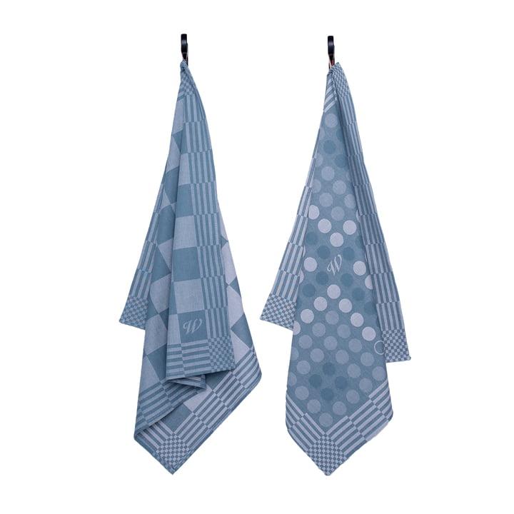 The tea towel from Weltevree in blue (set of 2)
