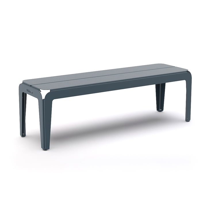 The Bended Bench bench from Weltevree , L 140 cm, grey-blue
