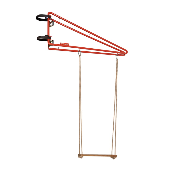 The Swing swing from Weltevree in coral red