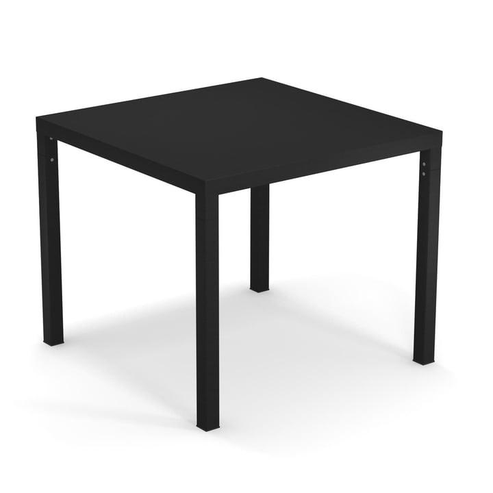 The Nova table from Emu in black, 90 x 90 cm