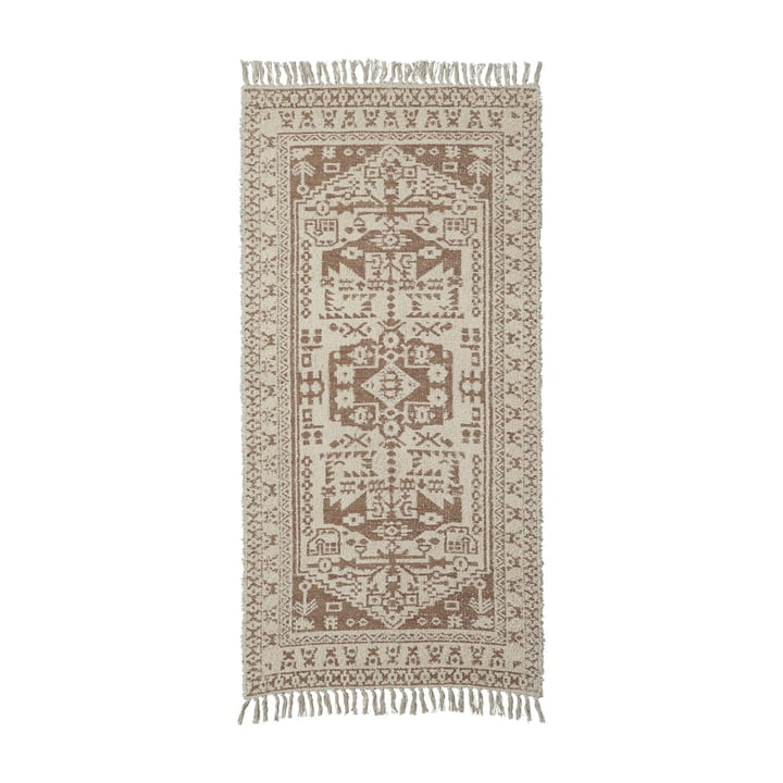 The Wowe carpet runner from House Doctor in beige, 200 x 90 cm
