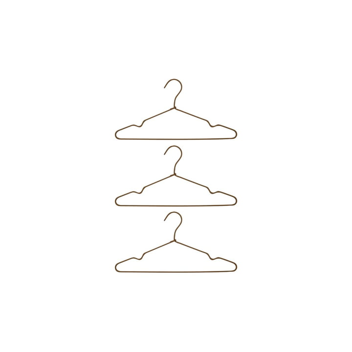 The Wire coat hanger from House Doctor in brown (set of 3)