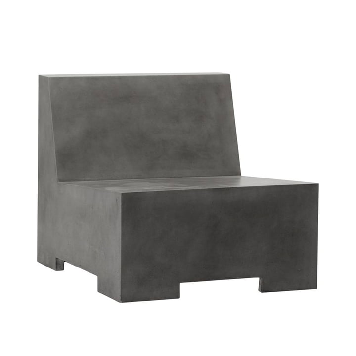 The Loun concrete lounge chair from House Doctor in grey