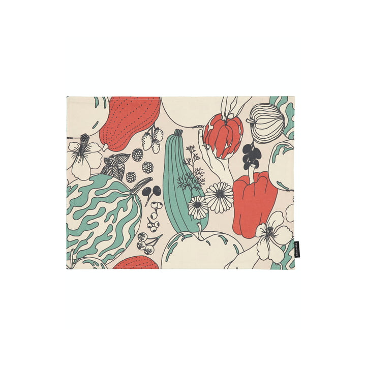 The Vihannesmaa placemat from Marimekko in cotton white / red / green