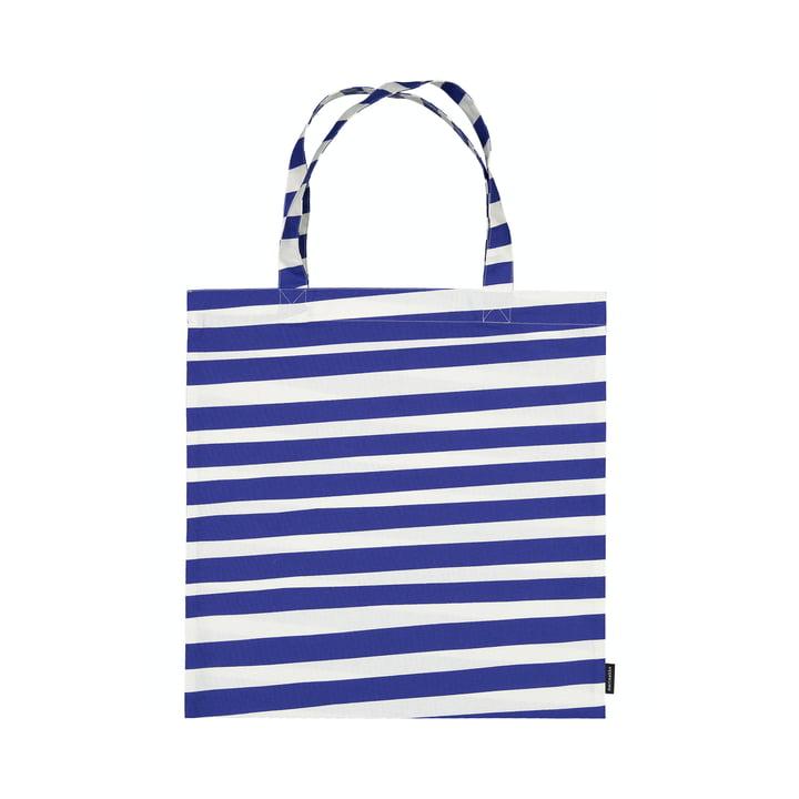 The Uimari shopping bag from Marimekko in white / blue