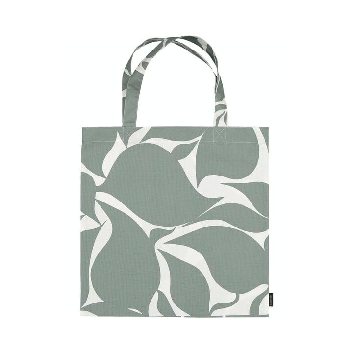 The Ruudut shopping bag from Marimekko in green / white