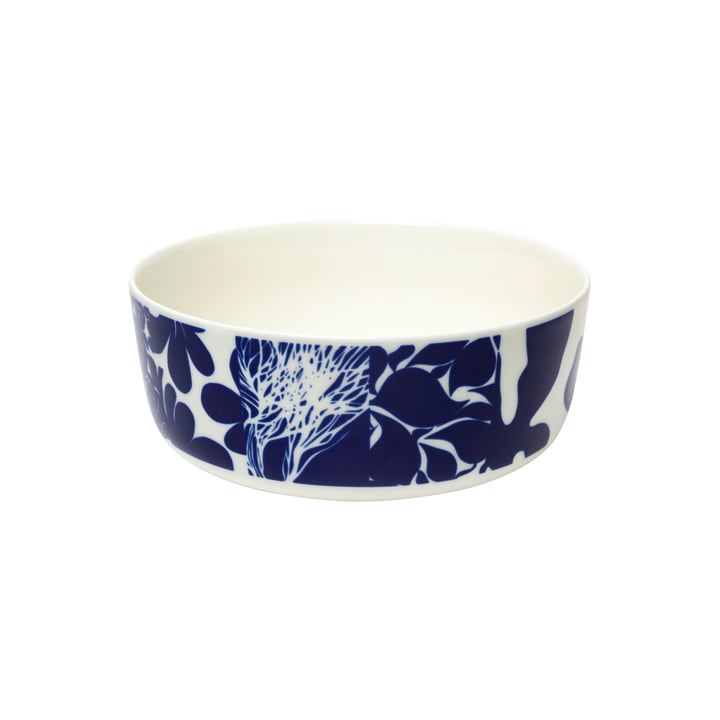 The Ruudut salad bowl by Marimekko, 1,5 l, white / blue