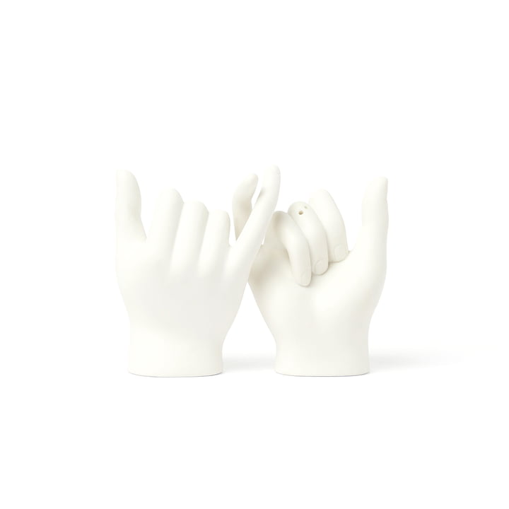 Pinky Swear Salt and pepper shakers (set of 2), white from Doiy