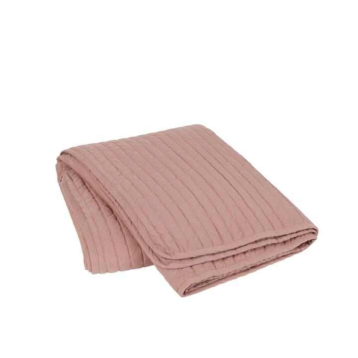 The Sena bedspread from Broste Copenhagen in dusty purpur