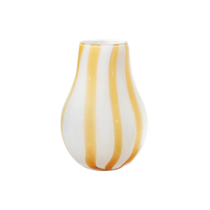 The Ada Stripe vase from Broste Copenhagen in yellow