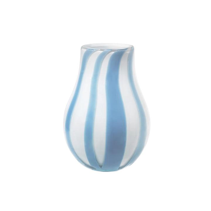 The Ada Stripe vase from Broste Copenhagen in light blue