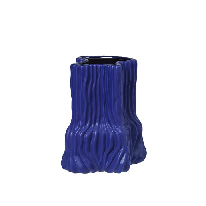 The Magny vase from Broste Copenhagen in dark blue, h 23,5 cm