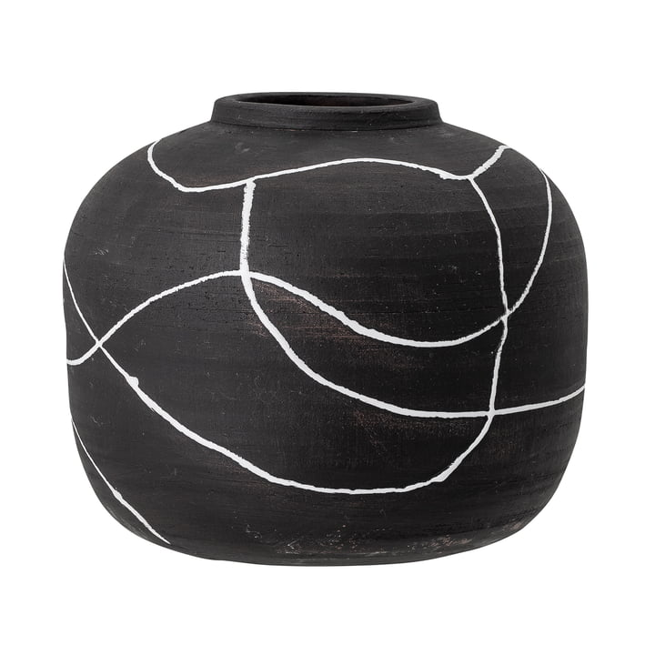 Niza Vase, H 16,5 cm from Bloomingville in black