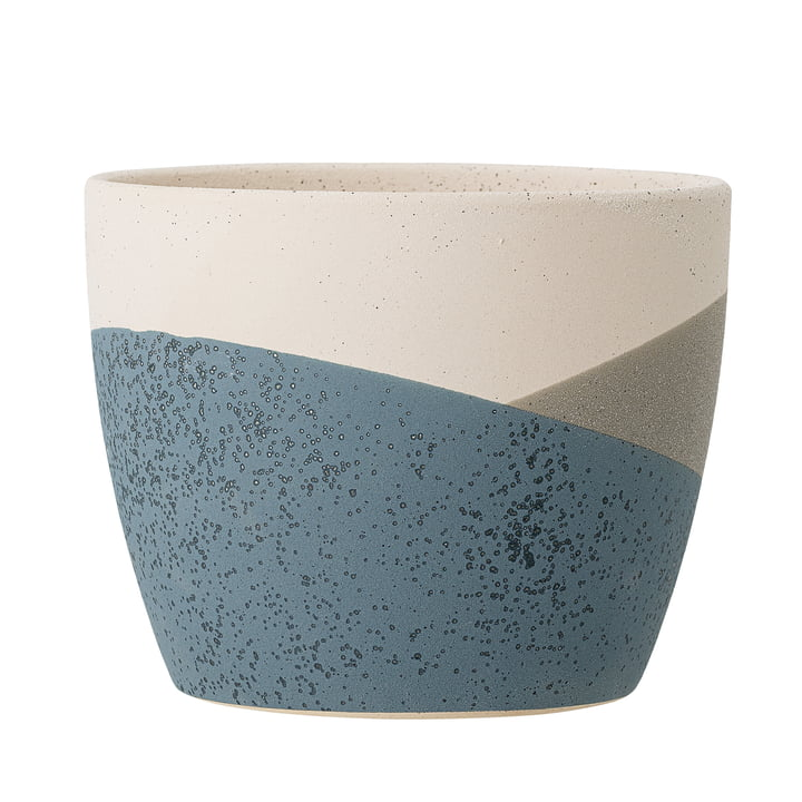 The Nkosi flower pot from Bloomingville in blue, Ø 17 cm
