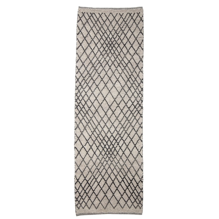 The Kaya carpet from Bloomingville , 250 x 80 cm, grey
