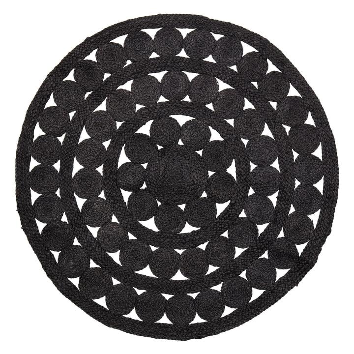 Neil Carpet Ø 120 cm from Bloomingville in black