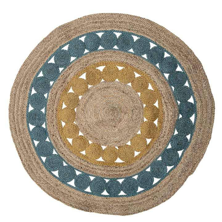 The Marlin carpet from Bloomingville , Ø 119 cm, colourful