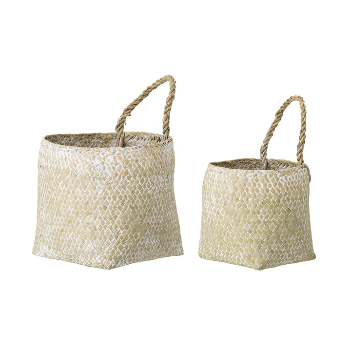 Sea grass basket set from Bloomingville in white (set of 2)