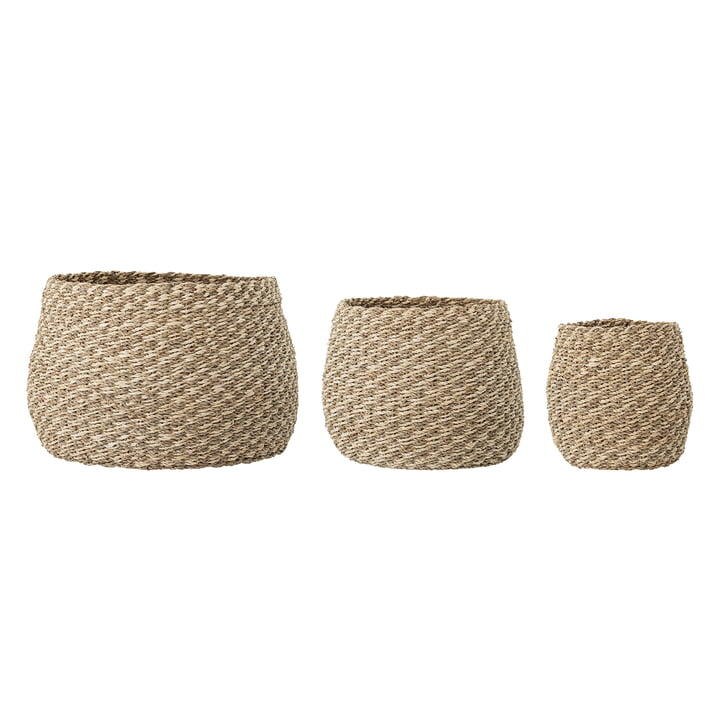 Sea grass basket set from Bloomingville in natural (set of 3)