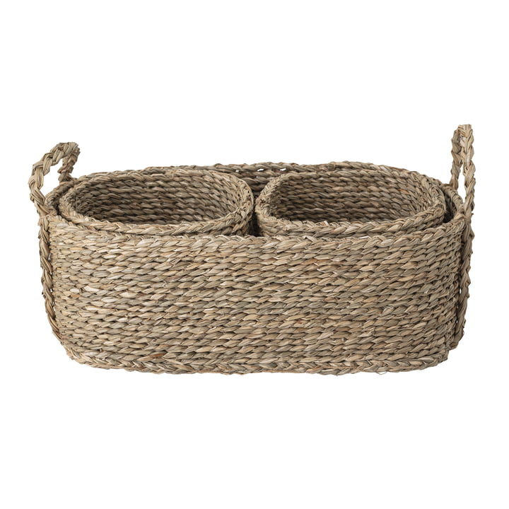 Lincia Basket from Bloomingville in natural (set of 3)