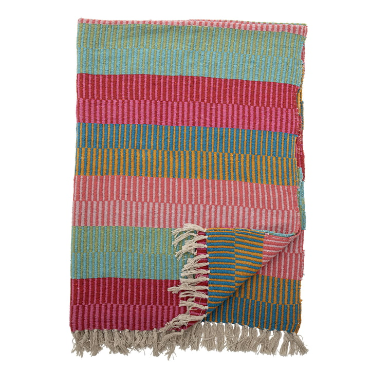 The Isnel blanket from Bloomingville , 130 x 160 cm, multicoloured