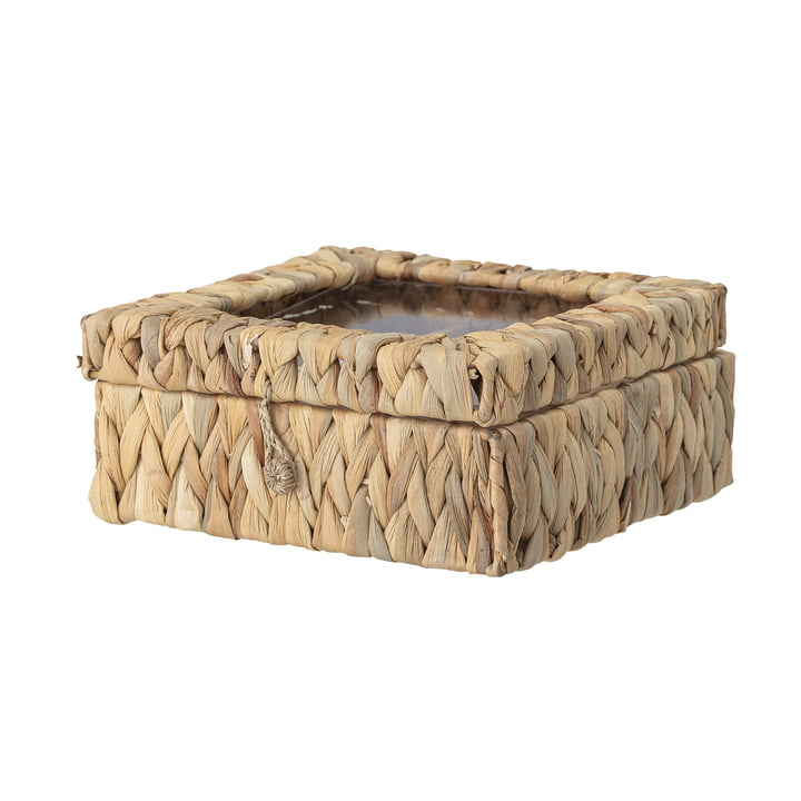 Iden Storage box with lid from Bloomingville in nature