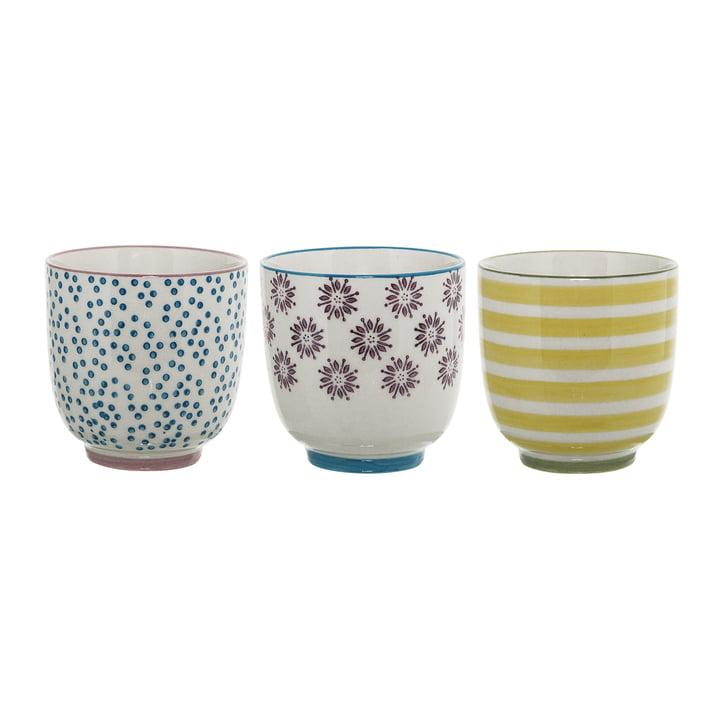 The Patrizia Mug from Bloomingville , multicoloured (set of 3)