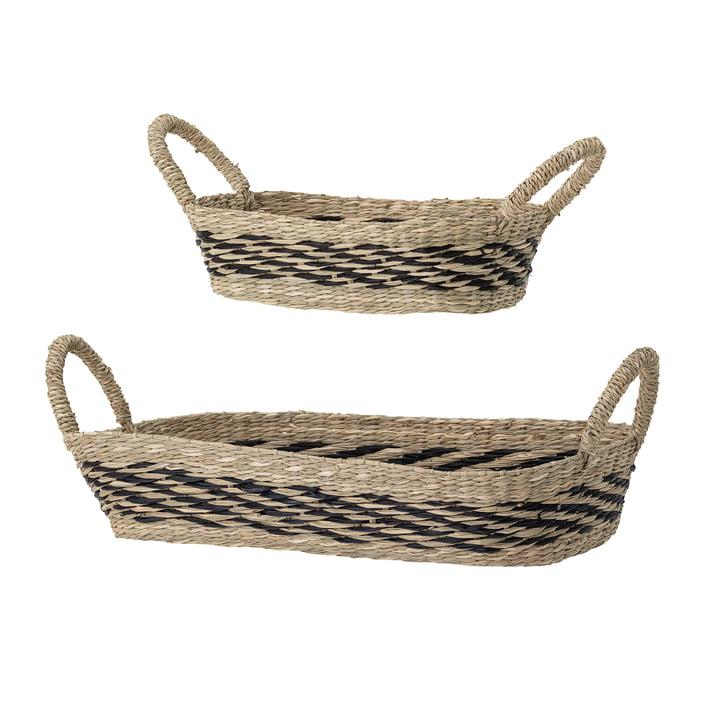 Sea grass basket set rectangular from Bloomingville in brown (set of 2)
